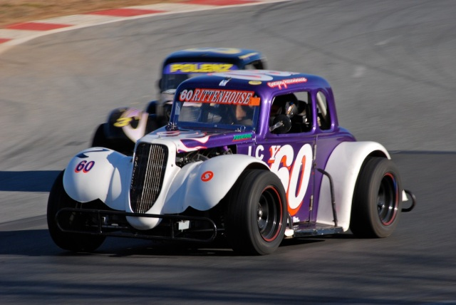 #60 Gregory Rittenhouse, 1934 INEX Legend Ford Coupe.