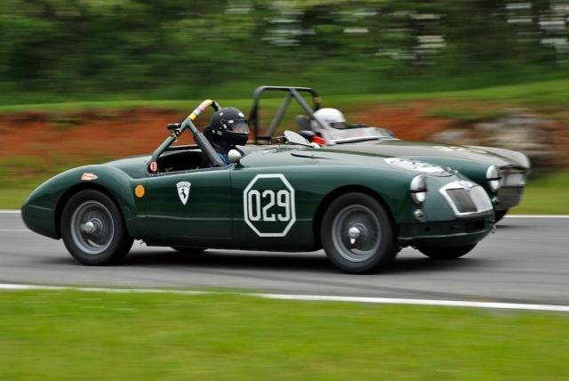 Chris Meyers (#029) Alfa Romeo GTV, Kenneth Haas (#329) 1966 MG B Roadster.
