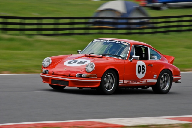 #08 Daniel Crough, 1969 Porsche 911T. I love red sports cars!