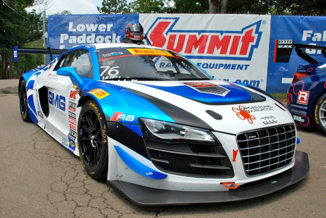 The Pirelli World Challenge GT3 sports cars put on quite a show for the fans. The Audi R8 Ultra is one of my favorites.