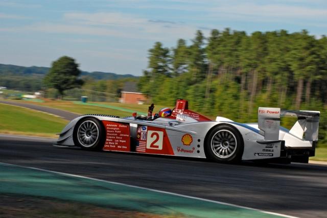 Travis Engen (#2) 2005 Audi R8 LMP.
